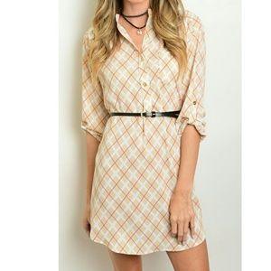 Dresses & Skirts - Plaid Henley Shirt Dress